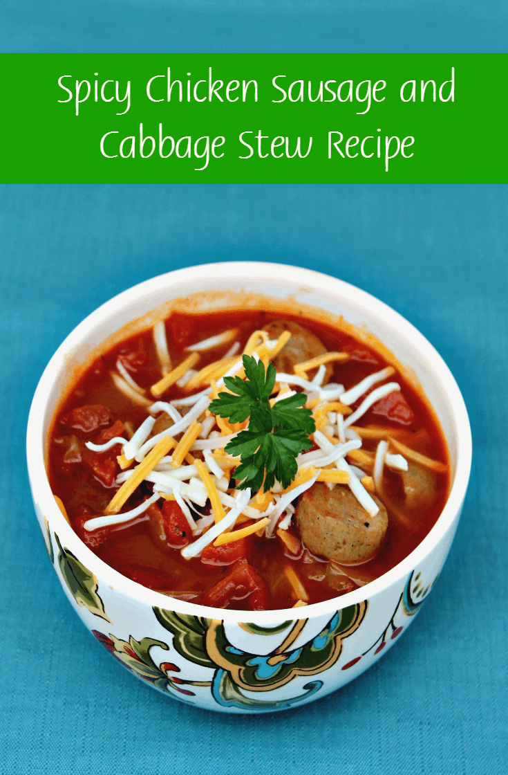 Spicy Chicken Sausage and Cabbage soup Recipe