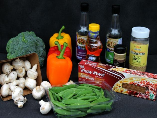 Vegetable Lo Mein Ingredients