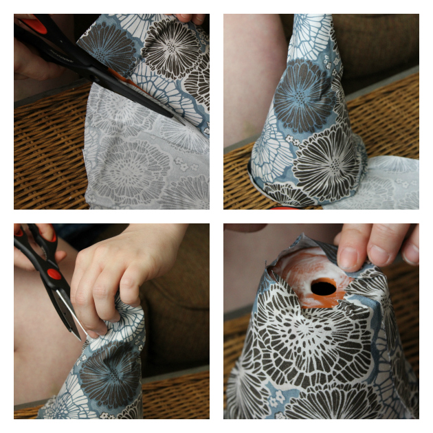 DIY Fabric Covered Flower Pots Step 3