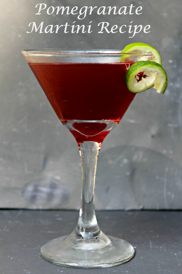 This Pomegranate Martini Recipe is the perfect drink for a girl's night in. It goes great with your favorite snack and some Netflix!