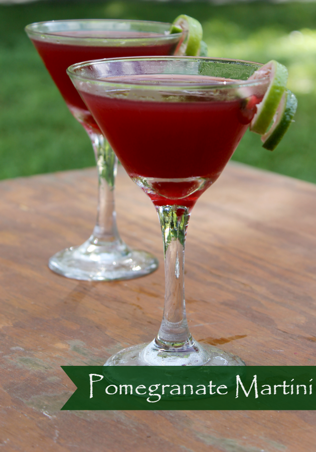 On your next girls night in, pop some popcorn, turn on the Netflix and make a batch or two of my Pomegranate Martini Recipe!