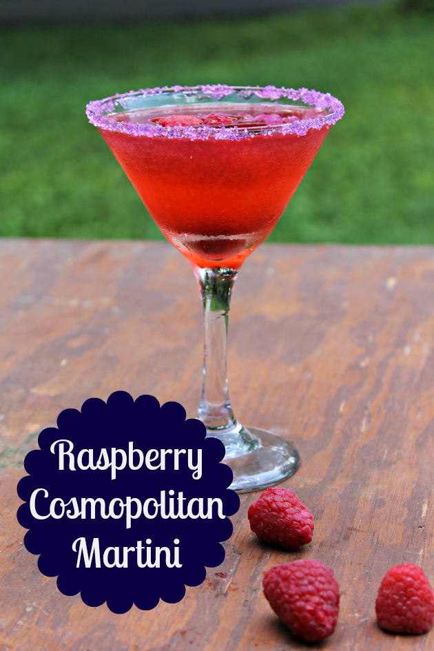 Raspberry Cosmopolitan Martini Recipe Pin 2