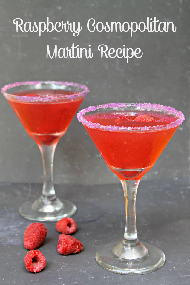 Raspberry Cosmopolitan Martini Recipe pin