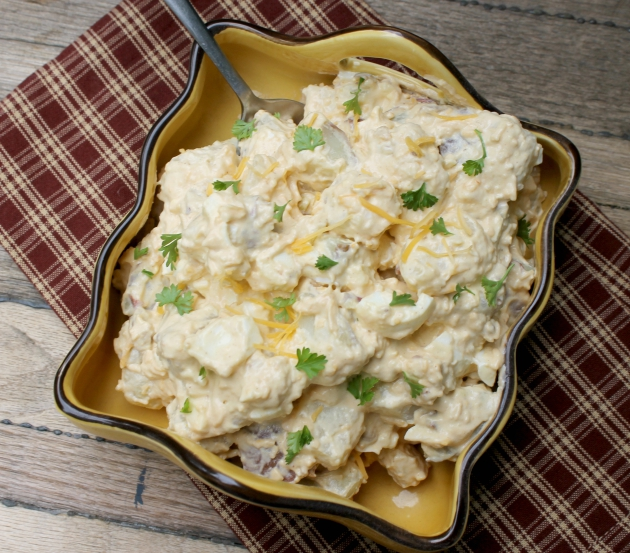 Gluten Free Bacon and Chipotle Potato Salad