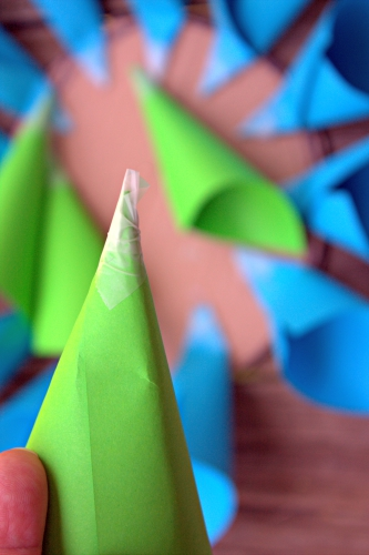Home Decor Project: Paper Flower Craft cones