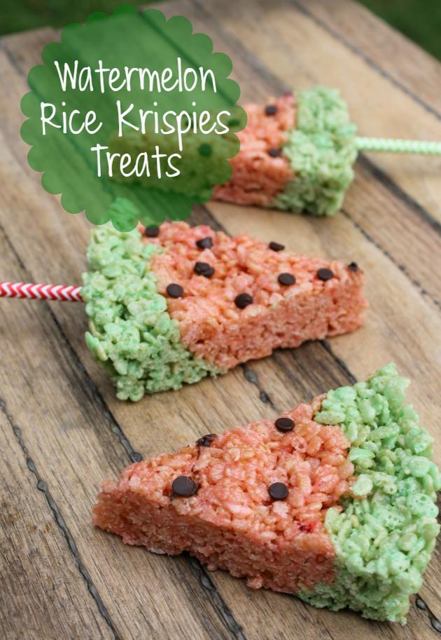 Watermelon Rice Krispies Treats pin2