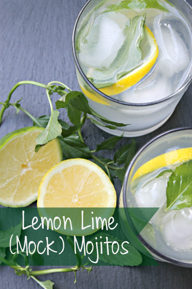 lemon lime mojito recipe pin 2