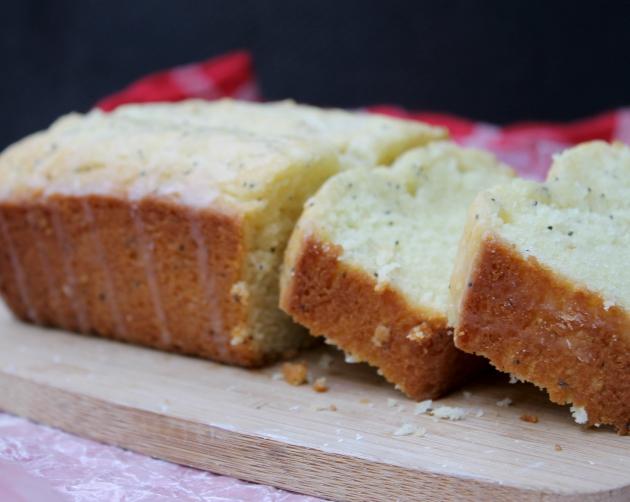 Gluten Free Lemon Poppy Seed Pound Cake - Kicking It With Kelly