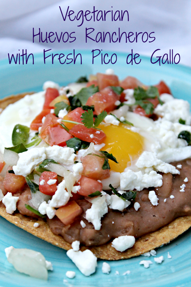 Vegetarian Huevos Rancheros with Fresh Pico de Gallo pin