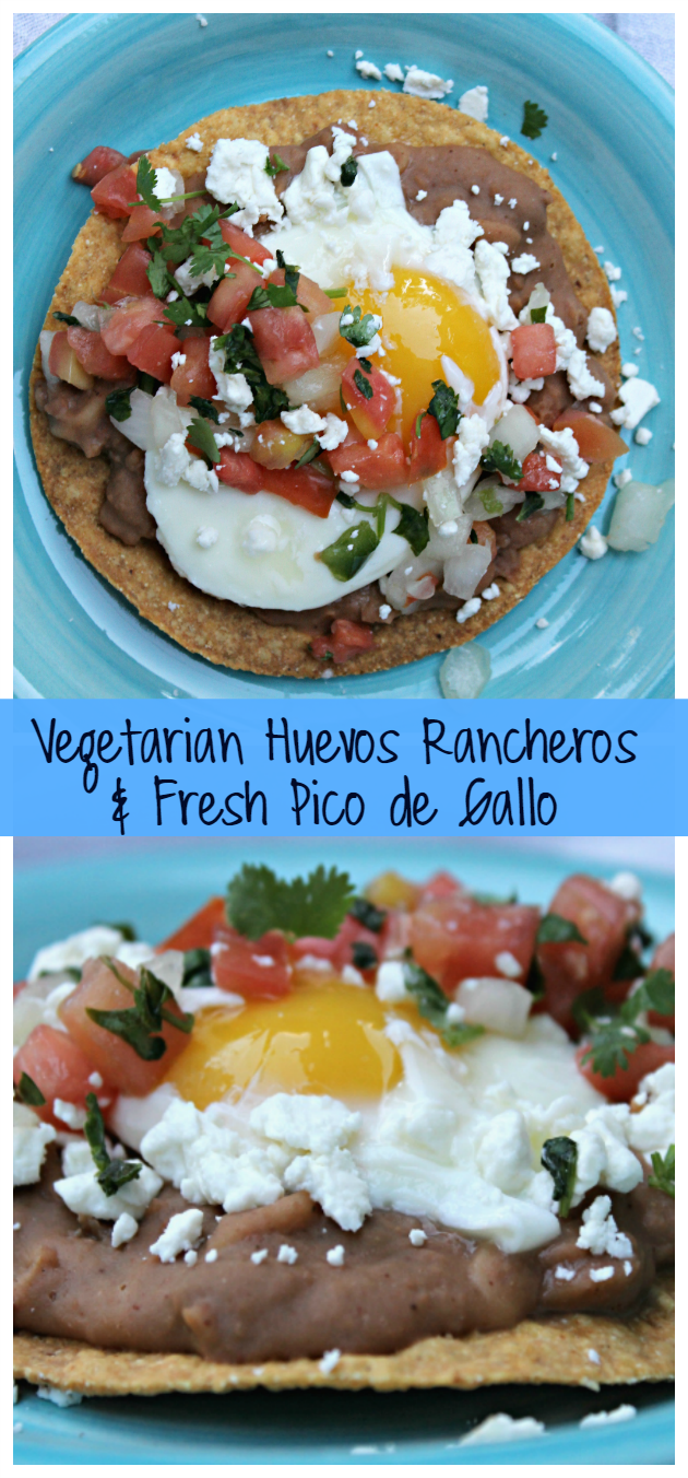 Vegetarian Huevos Rancheros with Fresh Pico de Gallo pin2