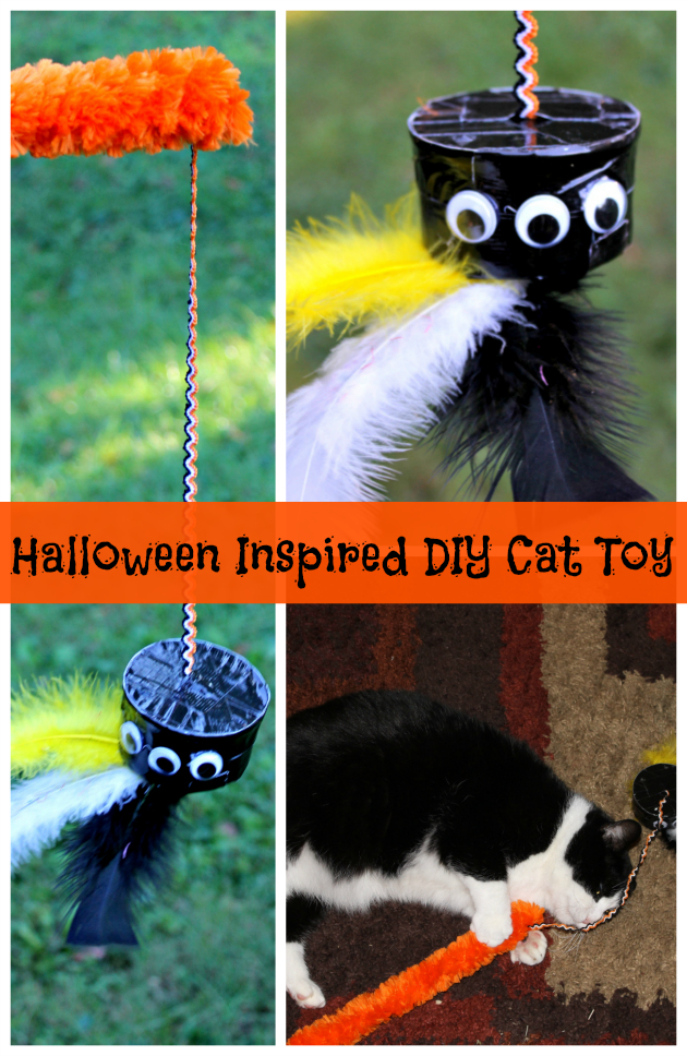 Halloween Inspired DIY Homemade Cat Toy pin