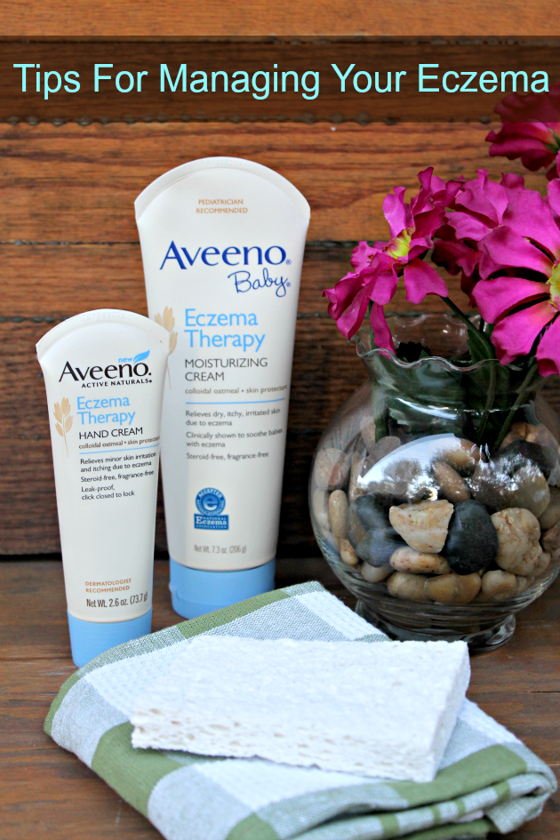 Do you suffer from eczema? My daughter does and some days, it is almost unbearable. Here are 5 Tips For Managing Your Eczema #AveenoEczemaTherapy