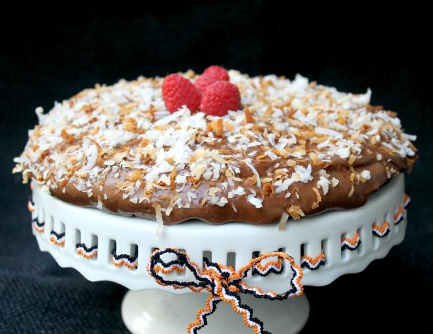 Toasted Coconut Chocolate Torte #SweetenTheSeason