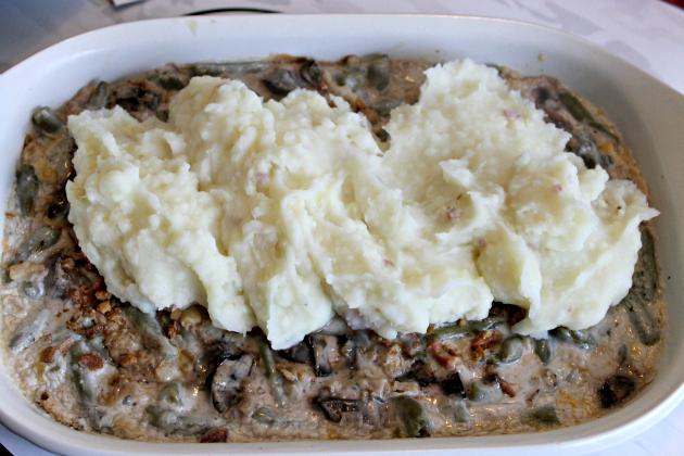 Layered Green Bean Casserole Shepherd's Pie #ThisIsMyTwist potatoes