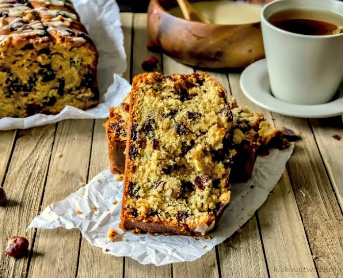 Chocolate Chip Cranberry Orange Hazelnut Bread 3