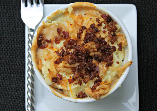 Individual Layered Green Bean Casserole Shepherd Pie Souffle Cup