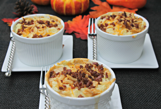 Layered Green Bean Casserole Shepherd Pie Souffle Cups