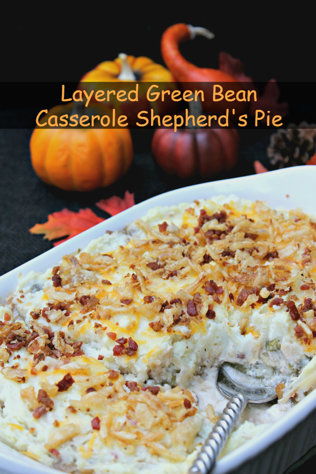Every holiday, I make mom's green bean casserole. This year, I decided to try my twist on that classic recipe and created a Layered Green Bean Casserole Shepherd's Pie.