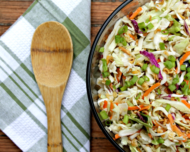 Nutty Asian Ramen Noodle Salad