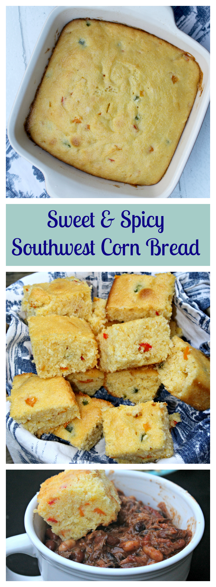 Nothing says cold weather comfort food like chili and my Sweet & Spicy Southwest Corn Bread! Talk about slap your mamma good!