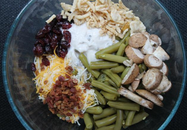 Layered Green Bean Casserole Shepherd Pie #ThisIsMyTwist bowl