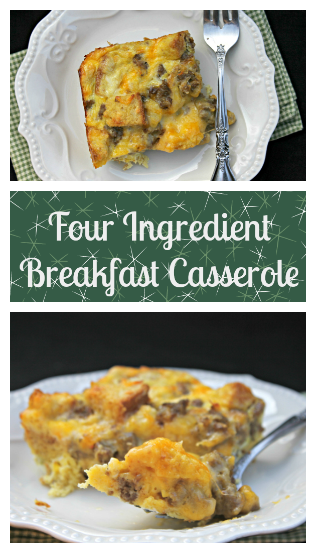 Every year, my family looks forward to my four ingredient breakfast casserole recipe. This easy to make Christmas morning tradition was passed on to me by my mother in law Peggy.