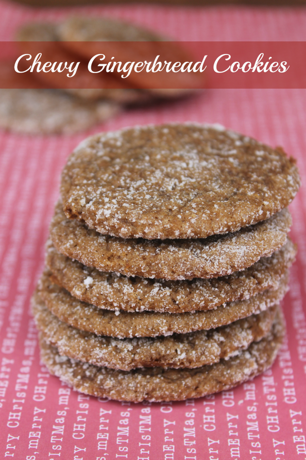 This Chewy Gingerbread Cookie recipe is a favorite recipe of my mom's from my childhood! By making smart swaps with the ingredients, these cookies will not throw your diet off the rails!