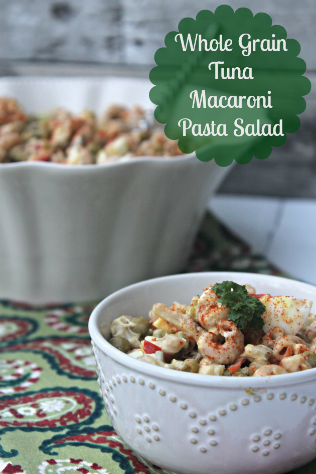 If you are looking for a side that is sure to please at your holiday party, this Whole Grain Tuna Macaroni Pasta Salad is for you!