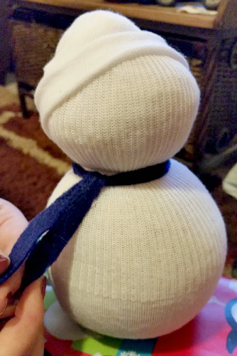 Winter Boredom Buster Snowman Craft scarf