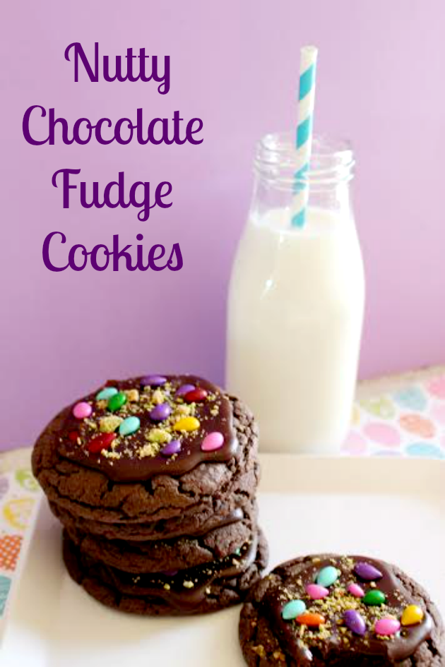 If you are looking for a fun Easter or Spring dessert, these Nutty Chocolate Fudge Cookies will satisfy your sweet tooth!