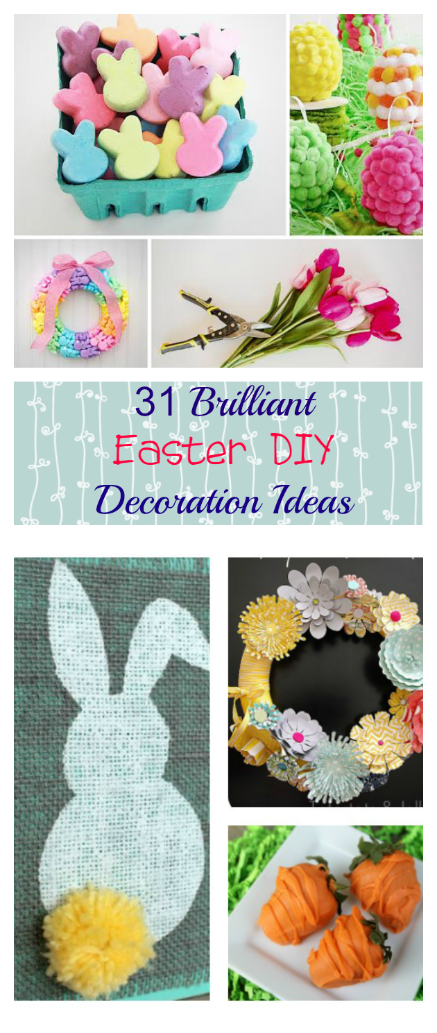 If you are looking for that perfectly adorable or elegant Easter decoration you can make at home, here are 31 crafts to choose from!