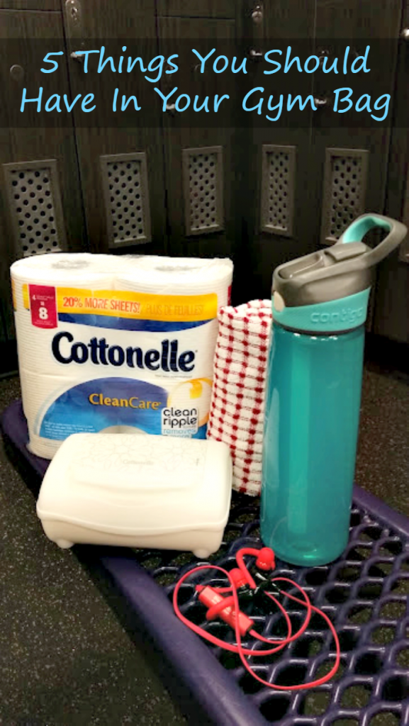 Before you head out for your workout, be sure to have these 5 Things You Should Have In Your Gym Bag, including Cottonelle #GoCottonelleCG #sponsored
