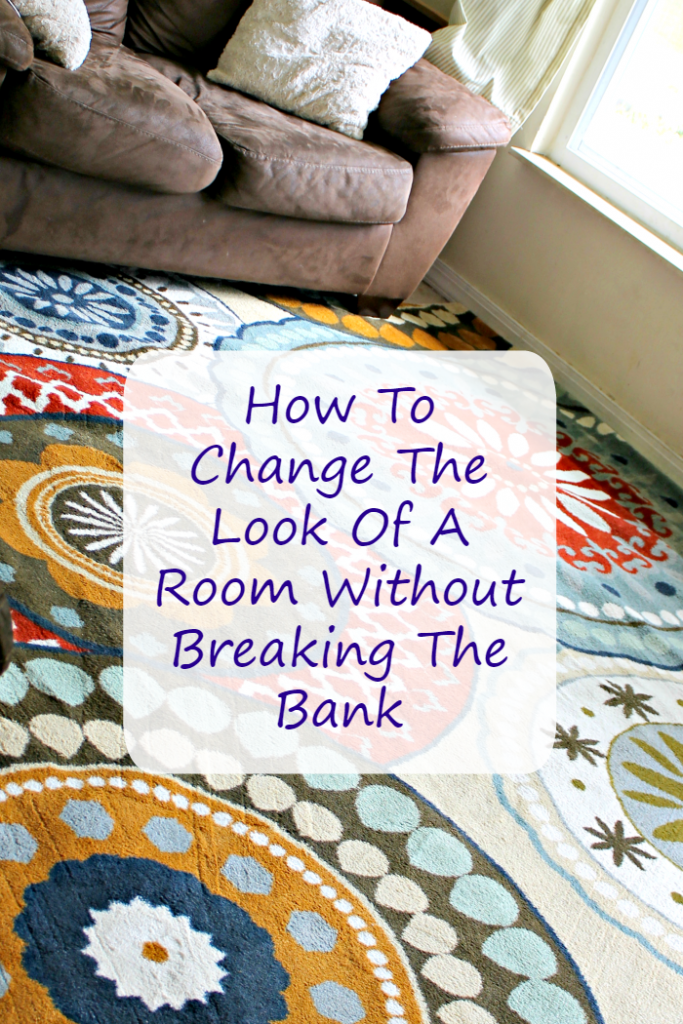If you want to give a room a facelift but don't have a ton of cash, here are some ideas to Dramatically Change The Look Of A Room On A Budget #ad #ilovemymohawkrug