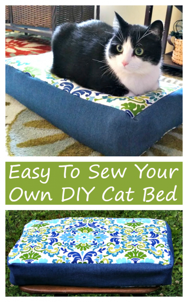 I keep my cats happy and comfortable with their favorite cat food, toys and this Easy To Make DIY Cat Bed
