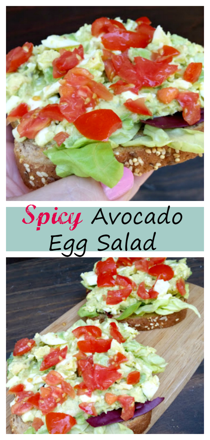 If you are looking for a healthy lunch with a kick, this Spicy Avocado Egg Salad Recipe is Ah-mazing