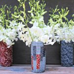DIY Patriotic Fabric Mason Jars 3 jars