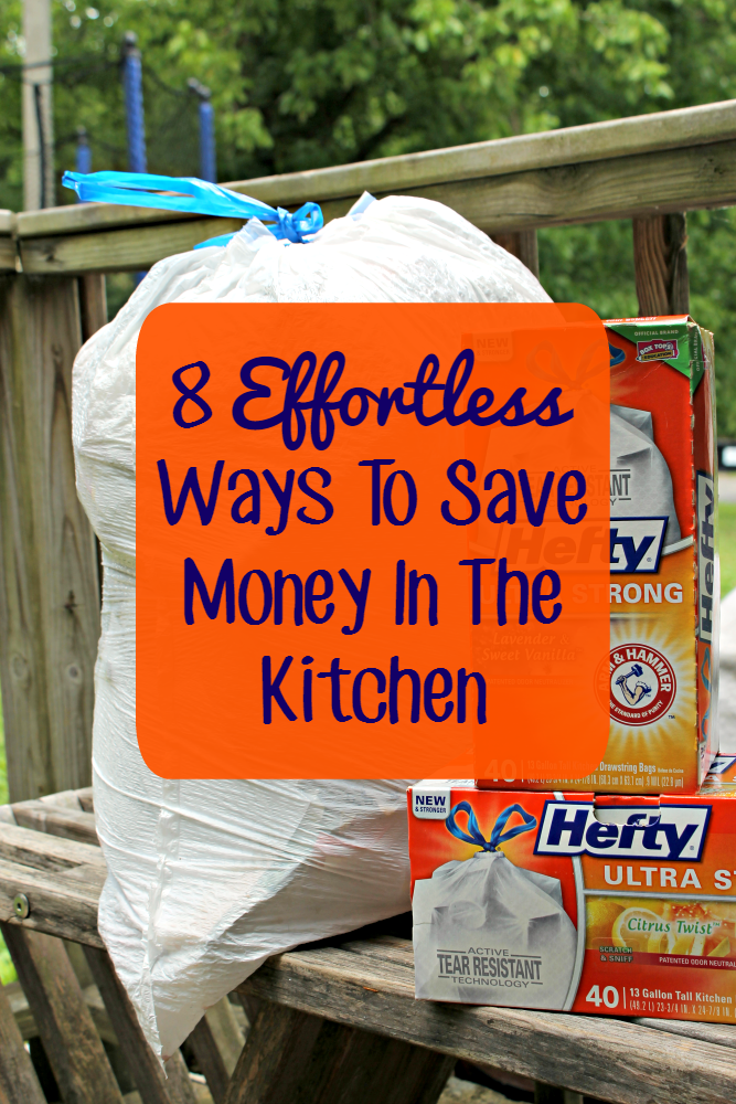 I keep my budget in line with these Effortless Ways To Save Money In The Kitchen, including using #HeftyUltraStrong bags #ad