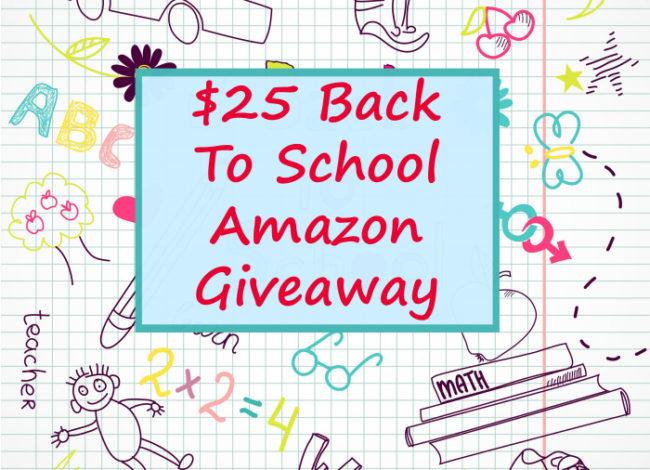 $25 Amazon Back To School Giveaway