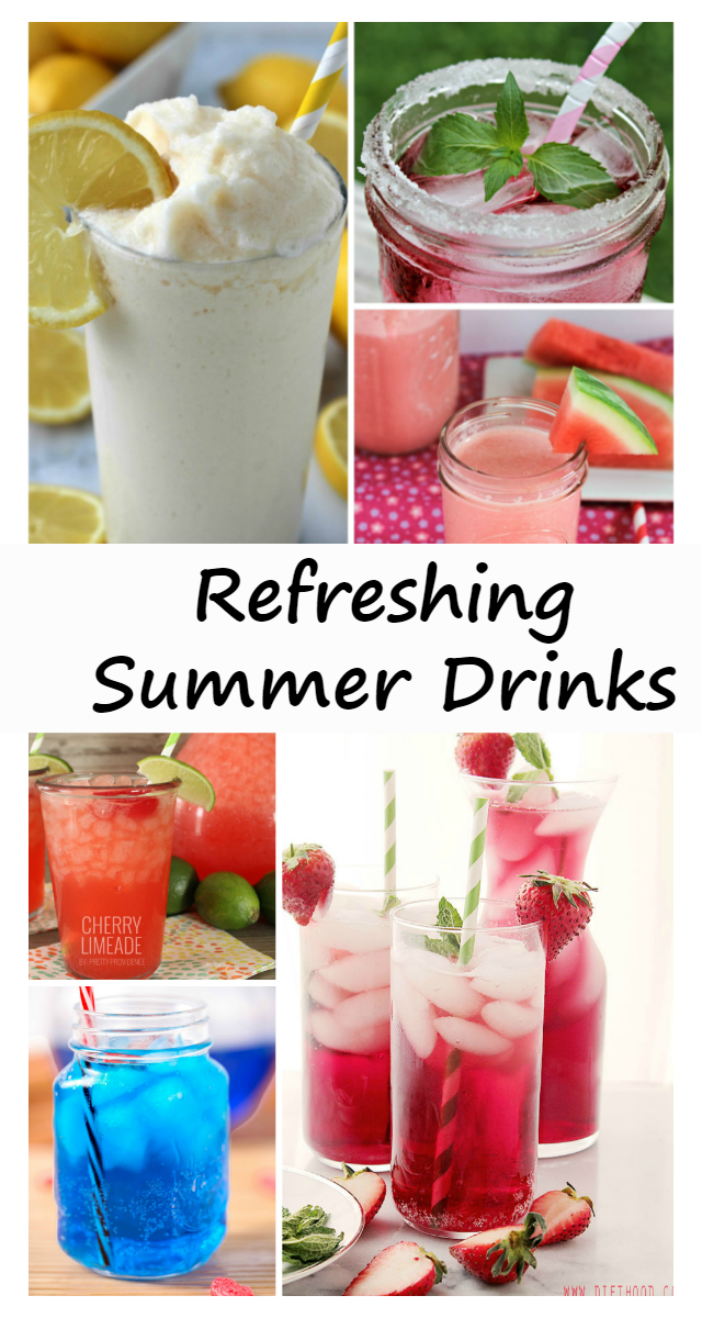 Looking for a beverage to quench your thirst in this hot weather? Try one of the Refreshing Summer Drinks