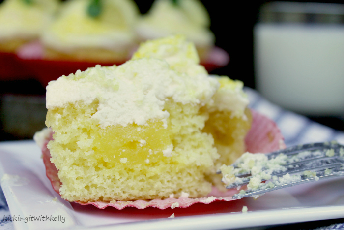Pudding Filled Cupcakes With Zesty Lemon Buttercream Frosting 3