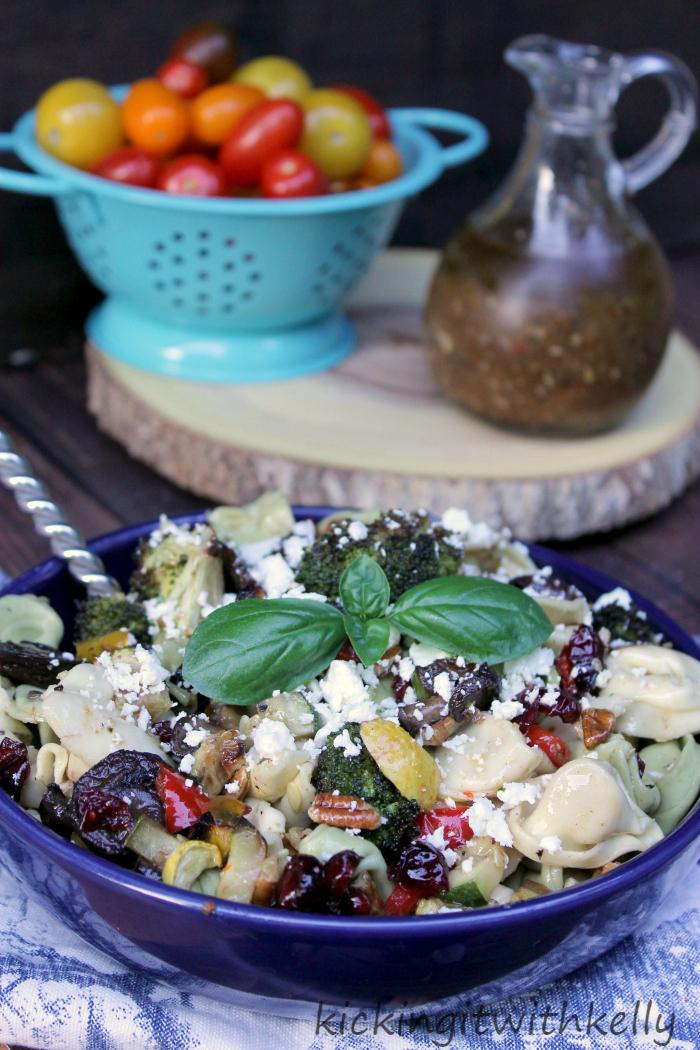 Roasted Summer Vegetable Tortellini Pasta Salad2