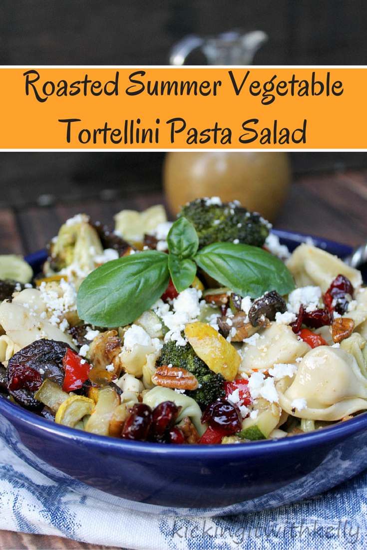 This Roasted Summer Vegetable Tortellini Pasta Salad is a twist on a classic recipe. The homemade Honey Mustard Vinaigrette dressing brings the flavor up several notches!