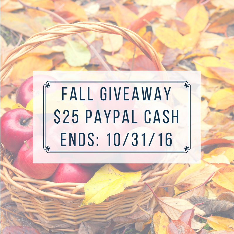 $25 PayPal Fall Giveaway