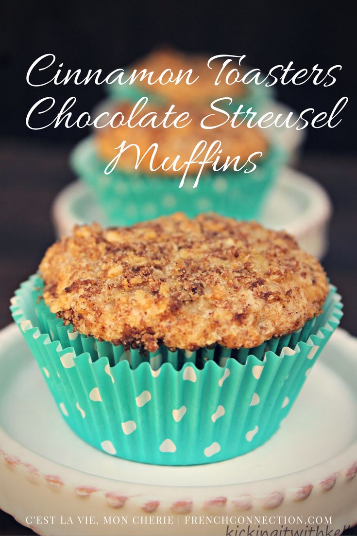 These Cinnamon Toasters Chocolate Streusel Muffins make the perfect back to school snack #ad #FlavorNation