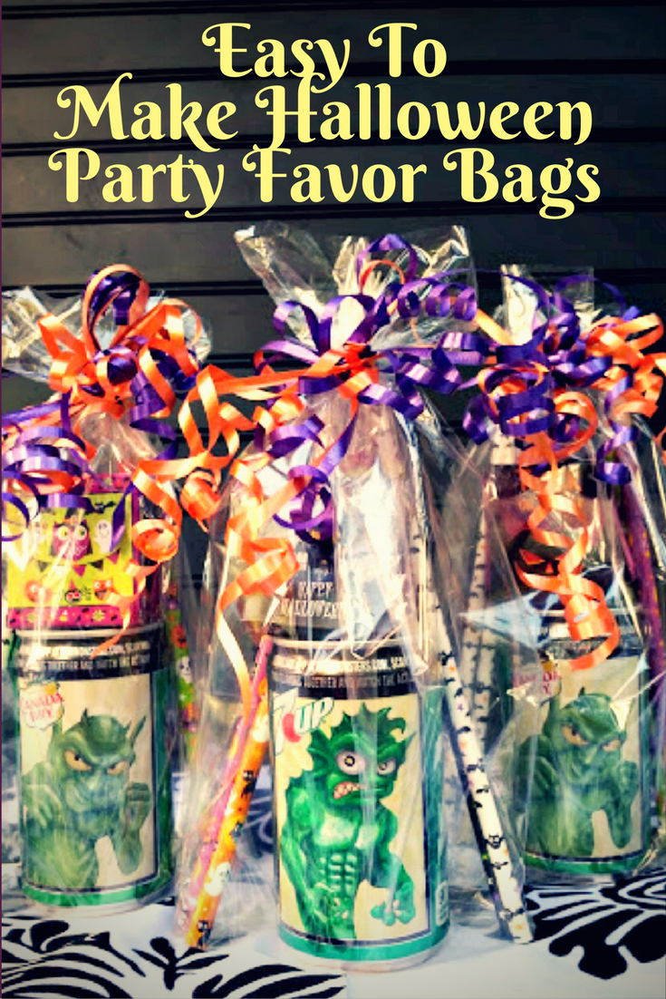 easy to make halloween party favor bags kicking it with kelly