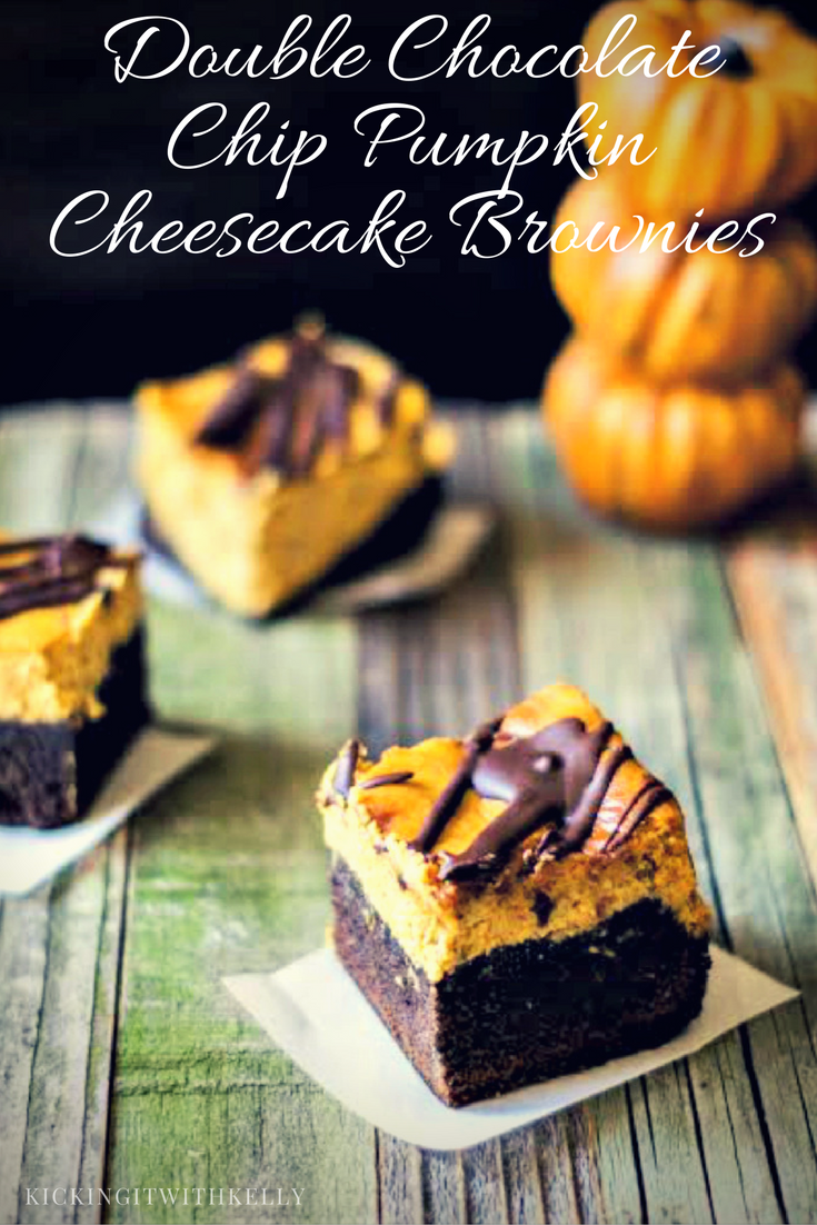 When fall comes, I am team chocolate and my husband is team pumpkin. Our compromise? MY Double Chocolate Chip Pumpkin Cheesecake Brownies!
