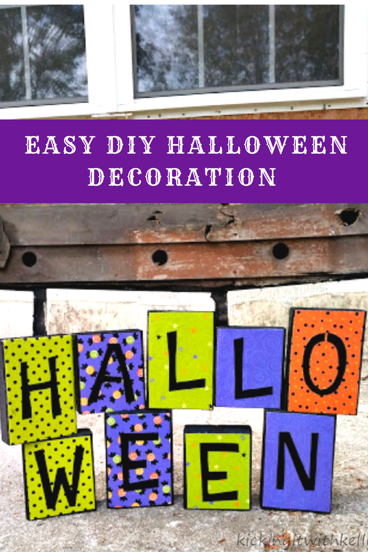 Ready to decorate for Halloween? Make this easy DIY Halloween decoration for under $10!