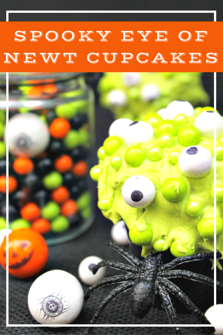 Cute Spooky Halloween Eyeball Cupcakes aka Eye Of Newt Cupcakes