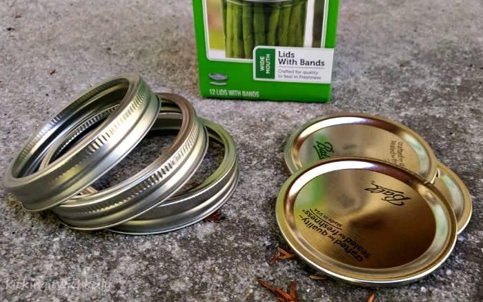 Washi Tape Mason Jar Bands Halloween Wreath rings