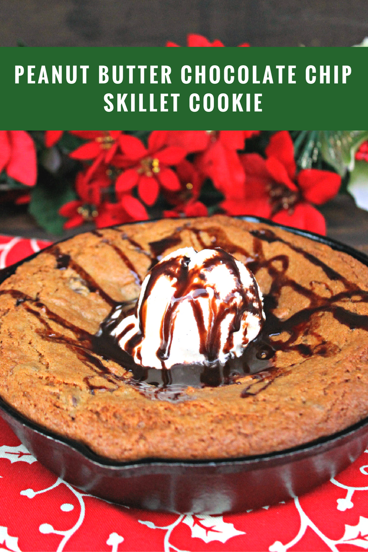 My favorite part of the holidays is spending time with my family. We love to bake my mom's Peanut Butter Chocolate Chip Skillet Cookie using Betty Crocker Cookie Mixes from @walmart with ice cream on top and a tall glass of milk. Yum! #ad #HolidaysWithBetty